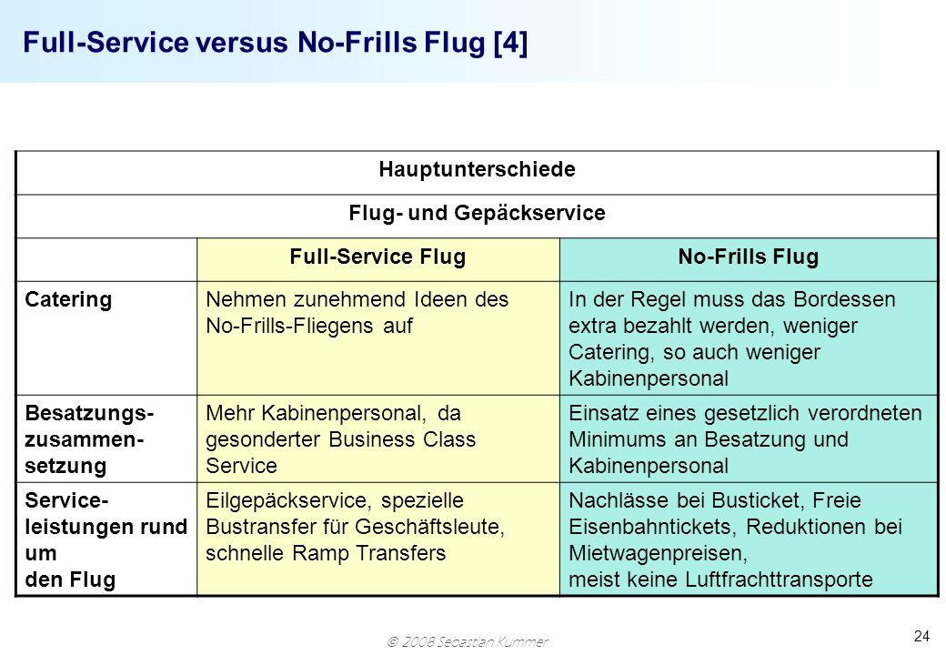 Full-Service versus No-Frills Flug [4]